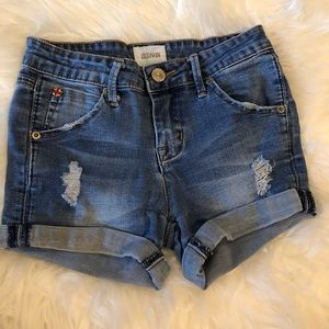 HUDSON SIZE 12 GIRLS DISTRESSED SHORTS (KIDS SIZE)